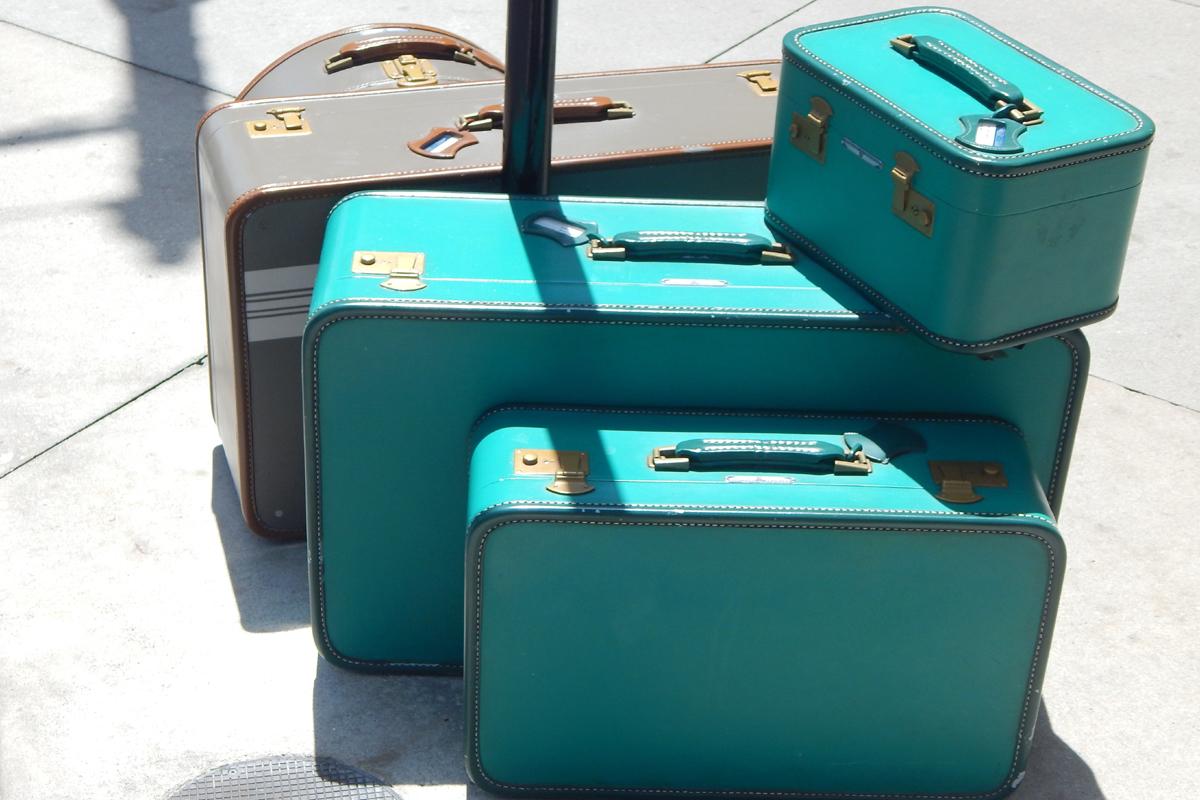 Gebrauchsspuren machen den Koffer interessant